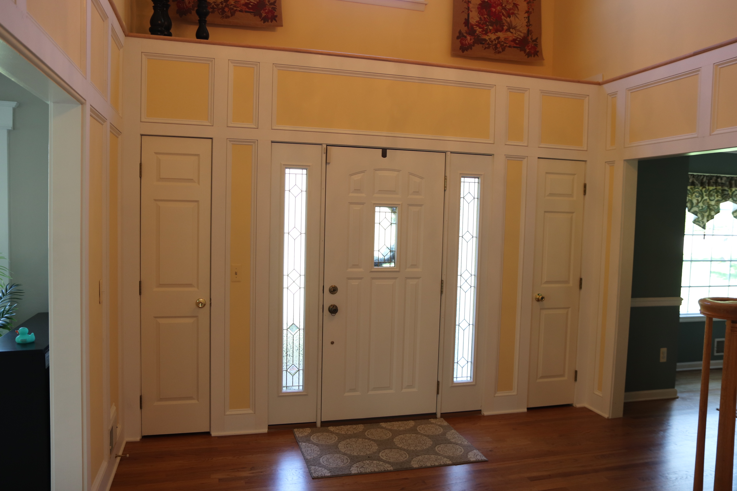 Foyer wainscot 1