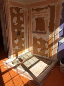 Tile, floor heat, tile shower